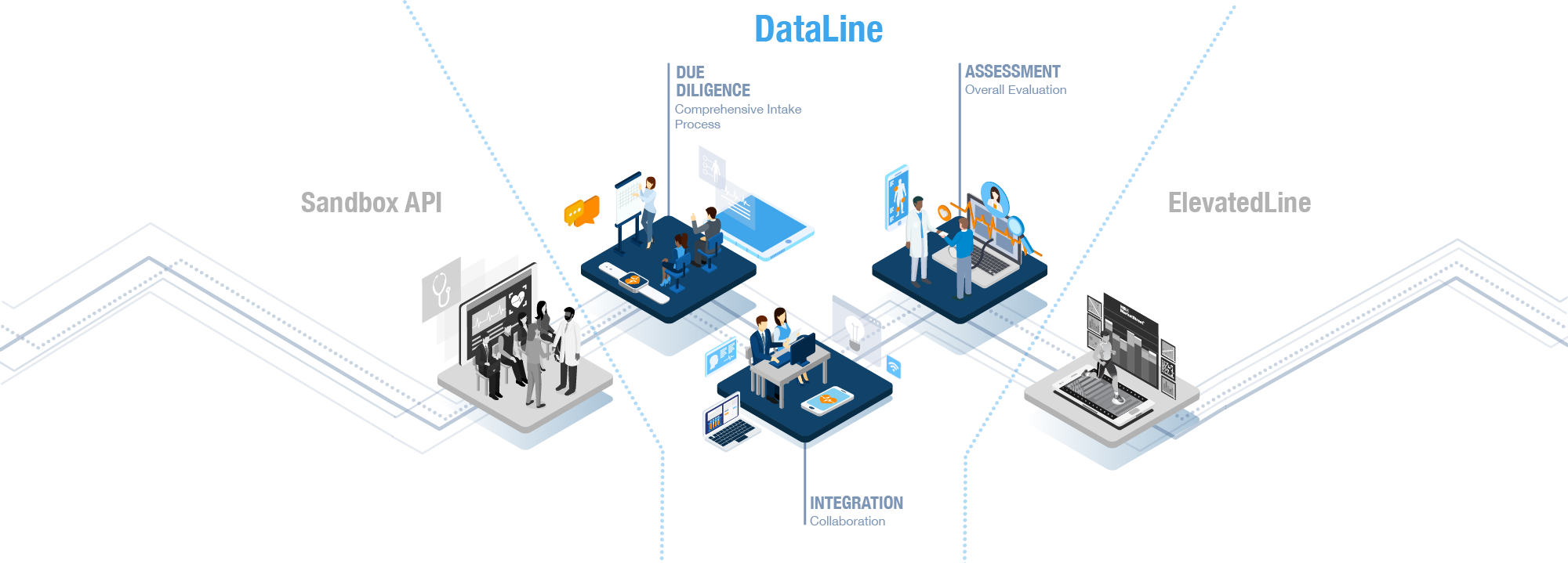 Data Line Illustration